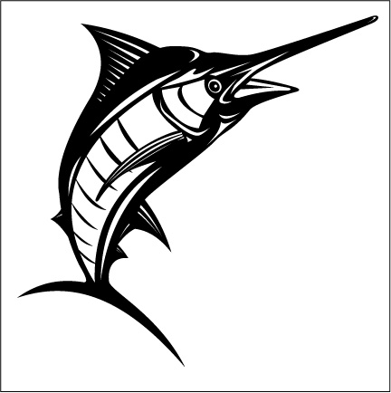 Marlin clipart stencil. Free cliparts outline download