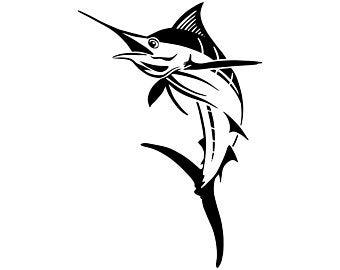 Clip art etsy . Marlin clipart stencil