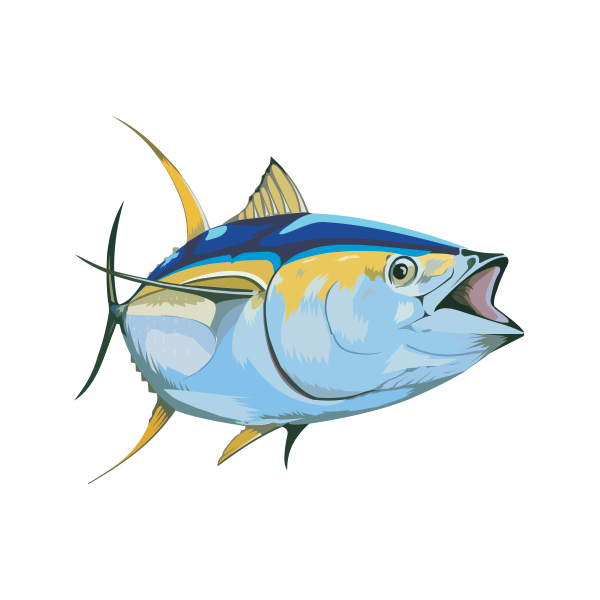 Thunnus swordfish fish steak. Tuna clipart bonito