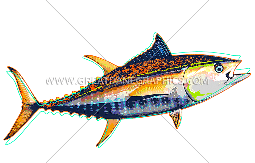 Funky production ready artwork. Tuna clipart transparent background