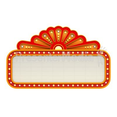 Broadway theme signs classic. Marquee clipart