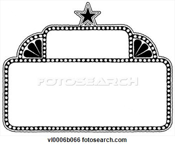 Marquee clipart. Frame