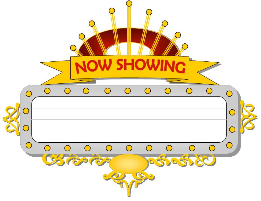 Movie . Marquee clipart