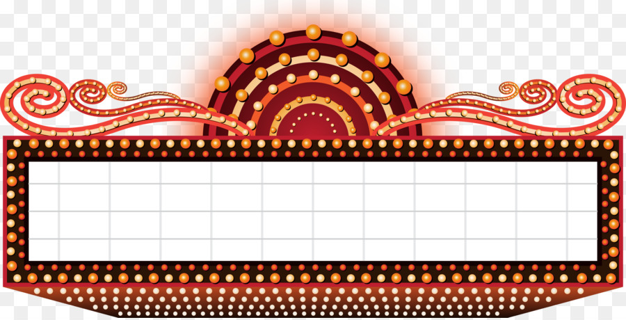 Marquee clipart. Cinema royalty free clip