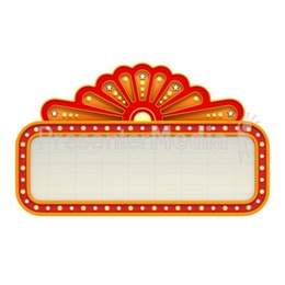 Marquee clipart marquee light. Resolution lights blank