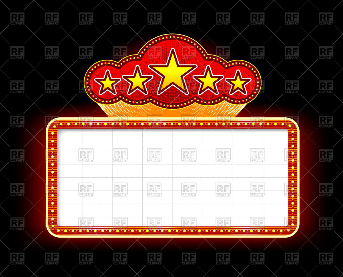 Station . Marquee clipart marquee sign