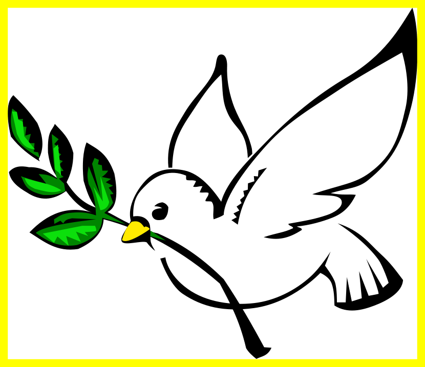 Awesome of peace clipground. Marriage clipart dove
