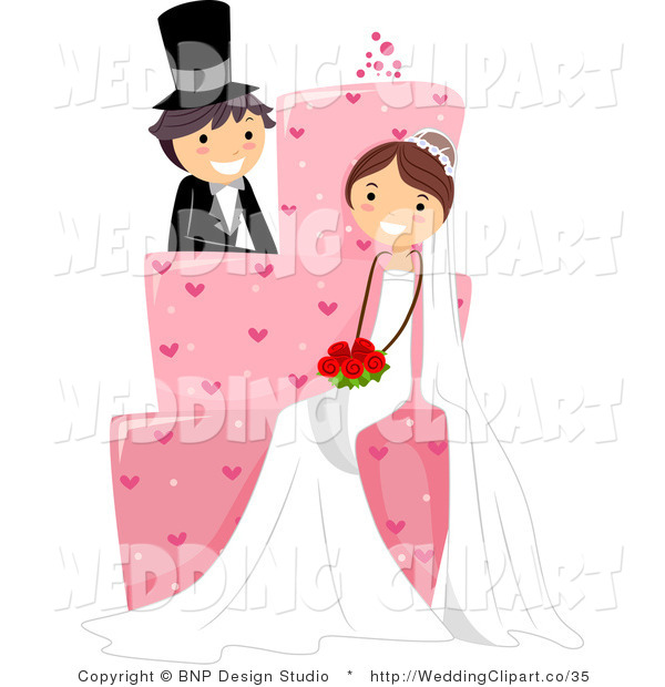 Vector cartoon of a. Marriage clipart married couple
