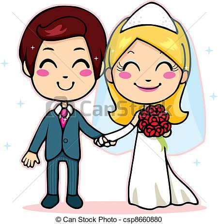 Marriage clipart married couple. Vector panda free images