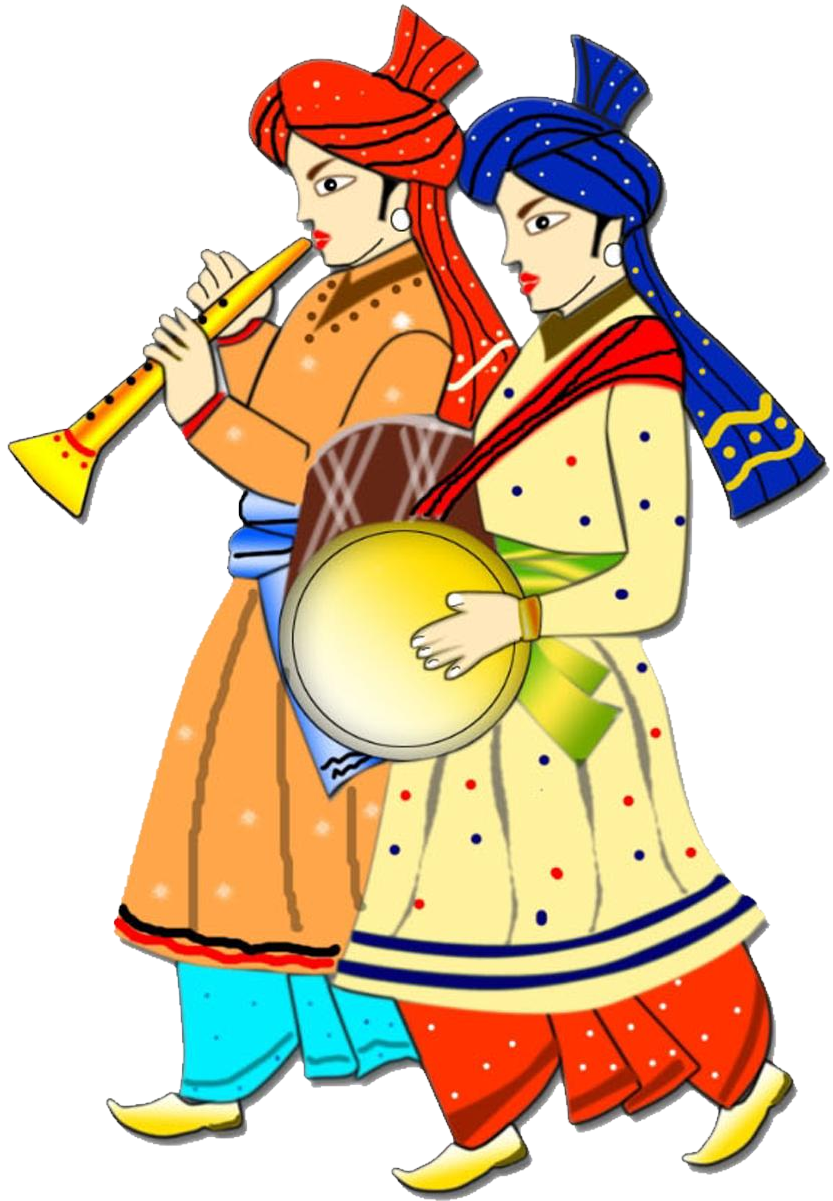 Marriage clipart oorvalam. Saree painting wedding card