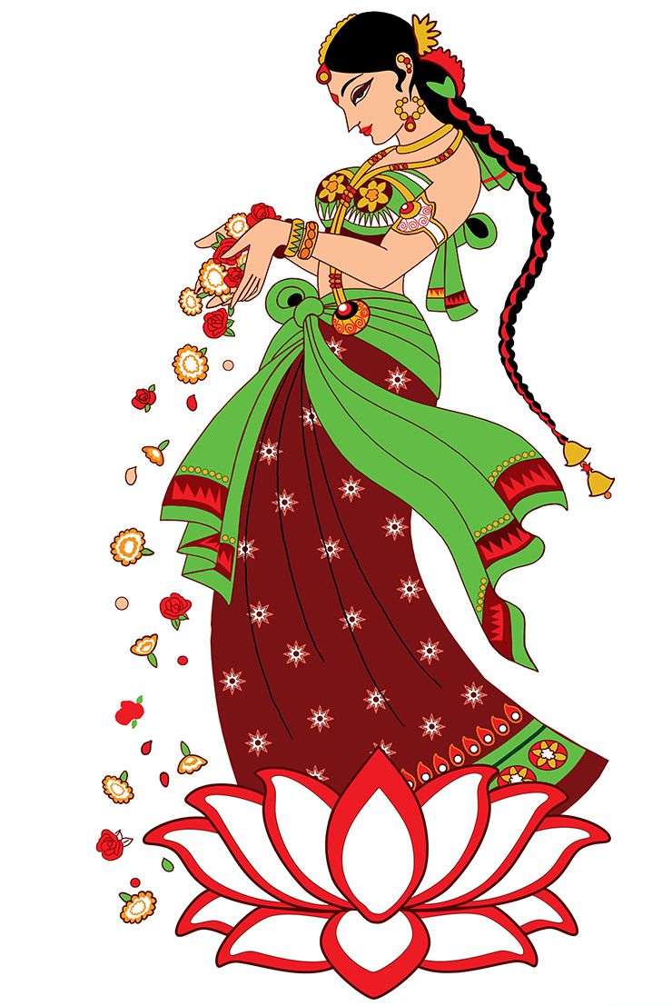 Illustrator smita upadhye digital. Marriage clipart welcome
