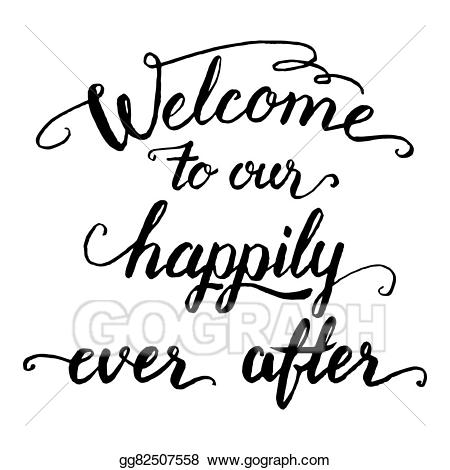 Marriage clipart welcome. Vector to our happily