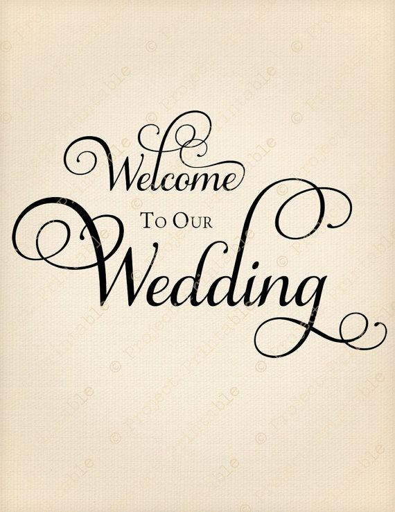 Marriage clipart welcome. To our wedding instant