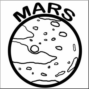 Mars clipart. Clip art planets b