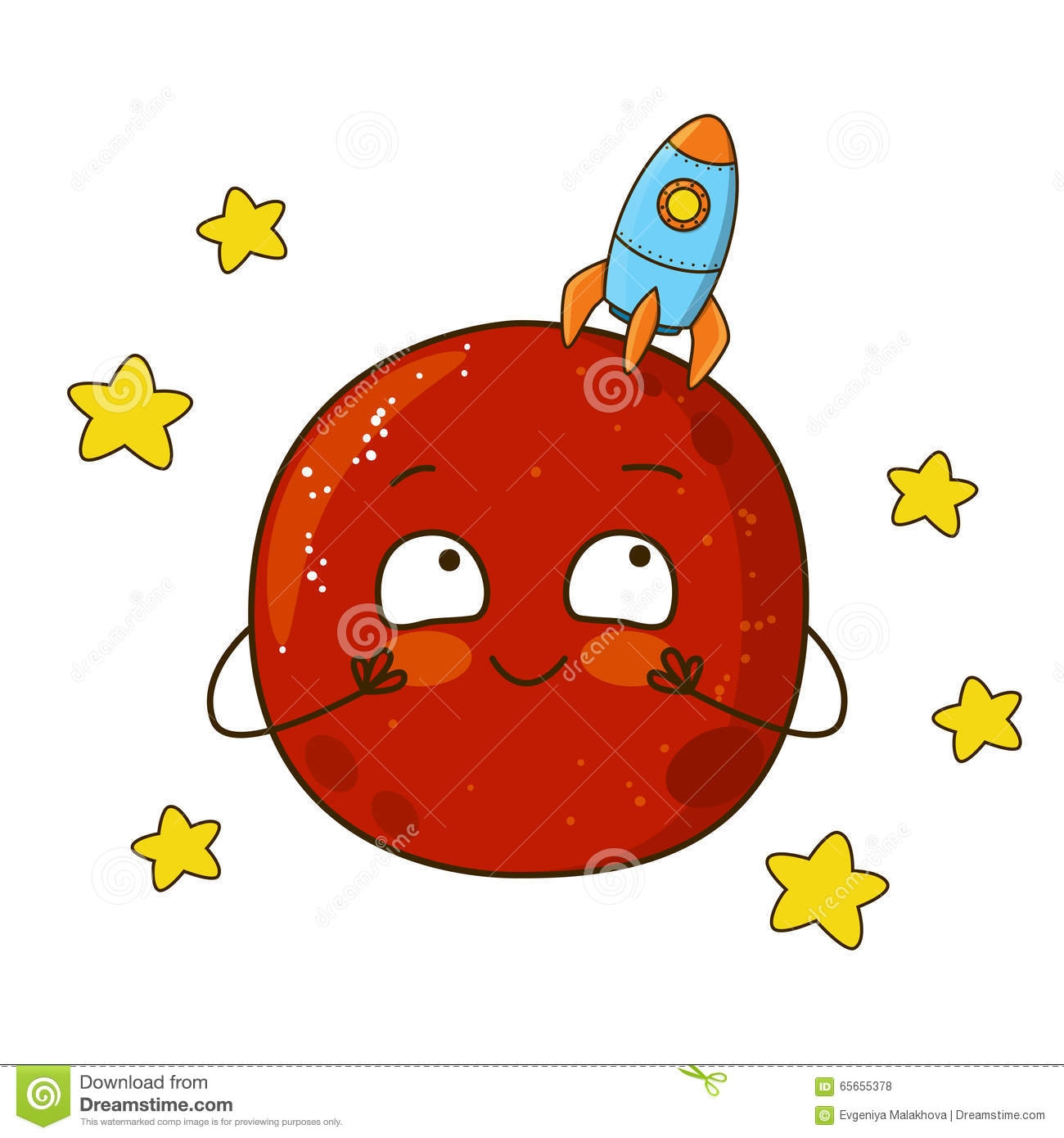 Mars clipart. Awesome design digital collection