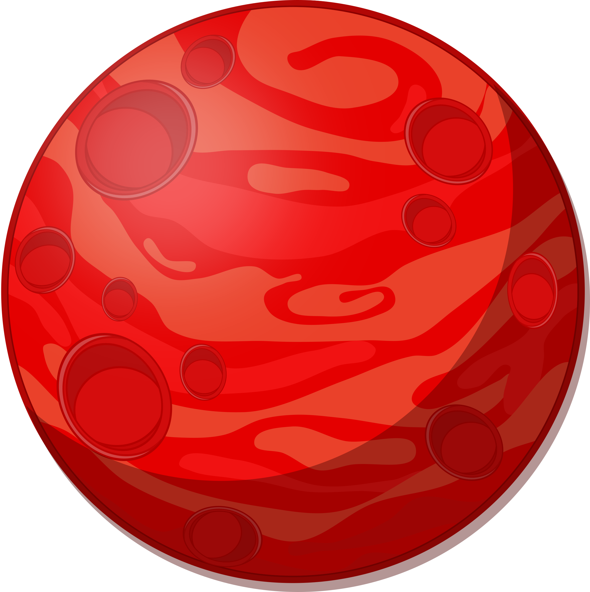 Remix of cartoon red. Planets clipart carton