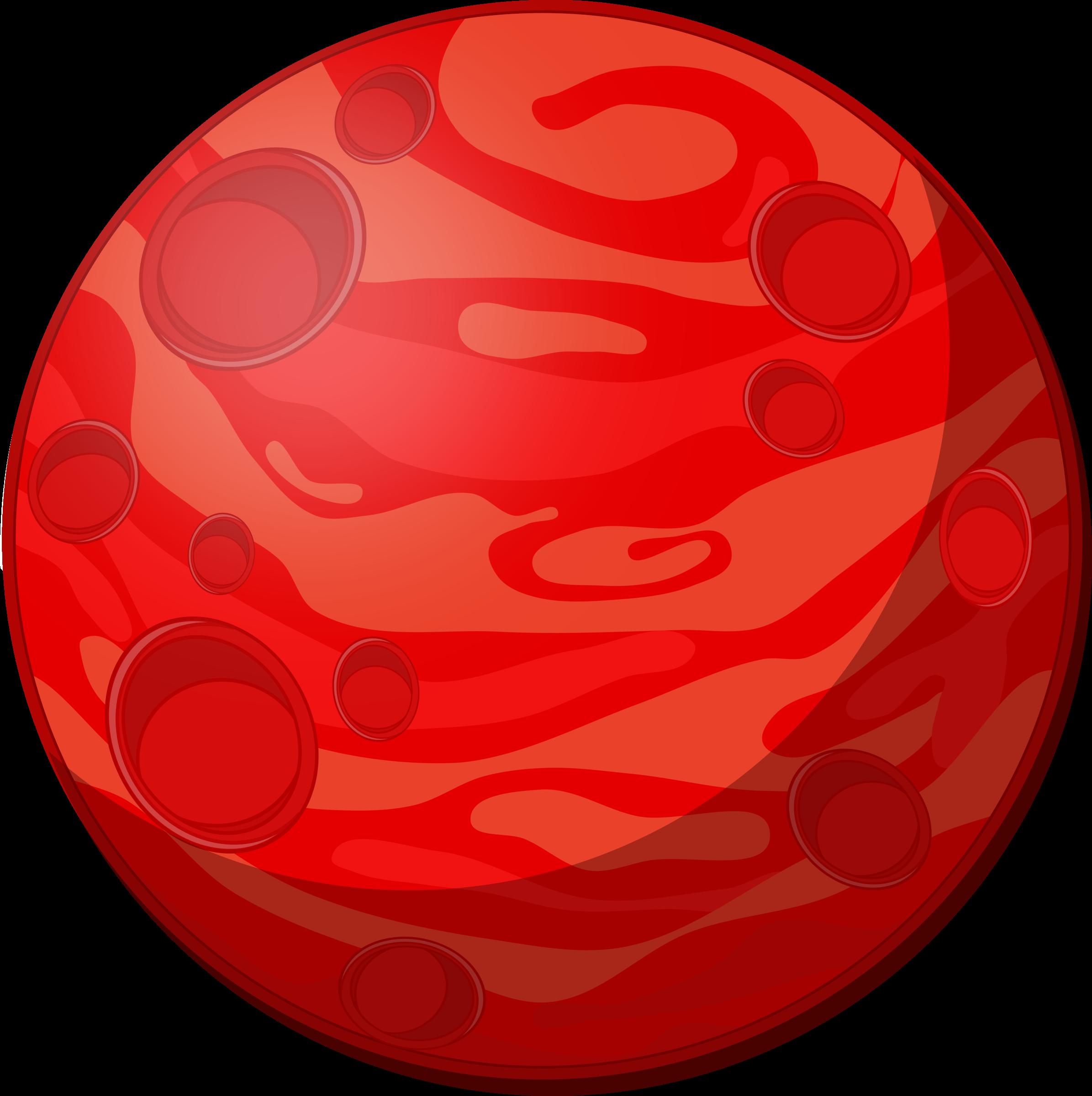 Remix of red big. Planet clipart cartoon