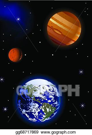 Vector stock earth with. Mars clipart illustration