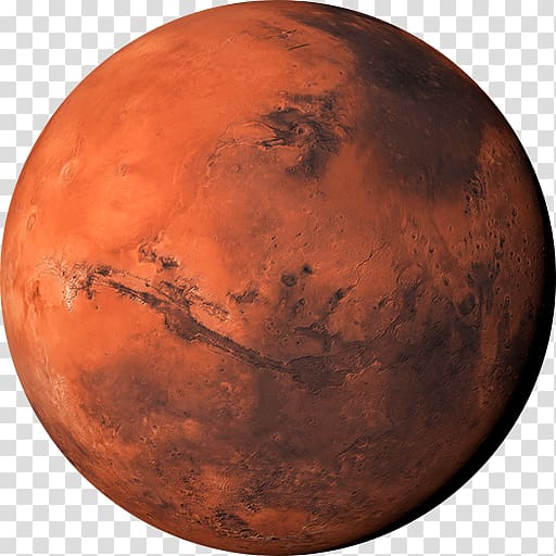 Planet earth terrestrial . Mars clipart illustration