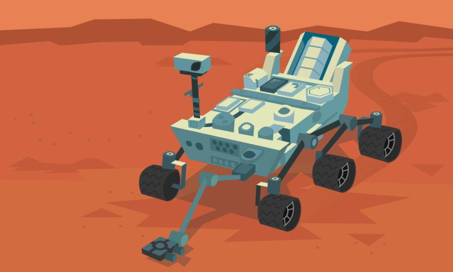 Mars clipart illustration. Science background robot technology