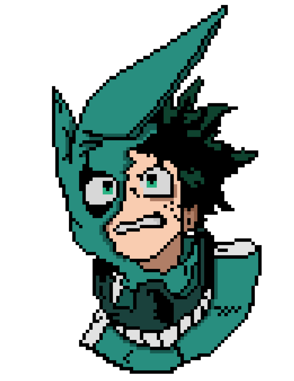 Izuku Midoriya Pixel Art (my hero academia) by nezz94 | Pixel art ...