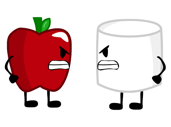 Image and apple oldies. Marshmallow clipart bucket