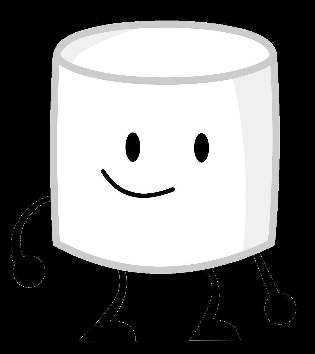 Marshmallow clipart bucket. Image marshmallowpose png inanimate