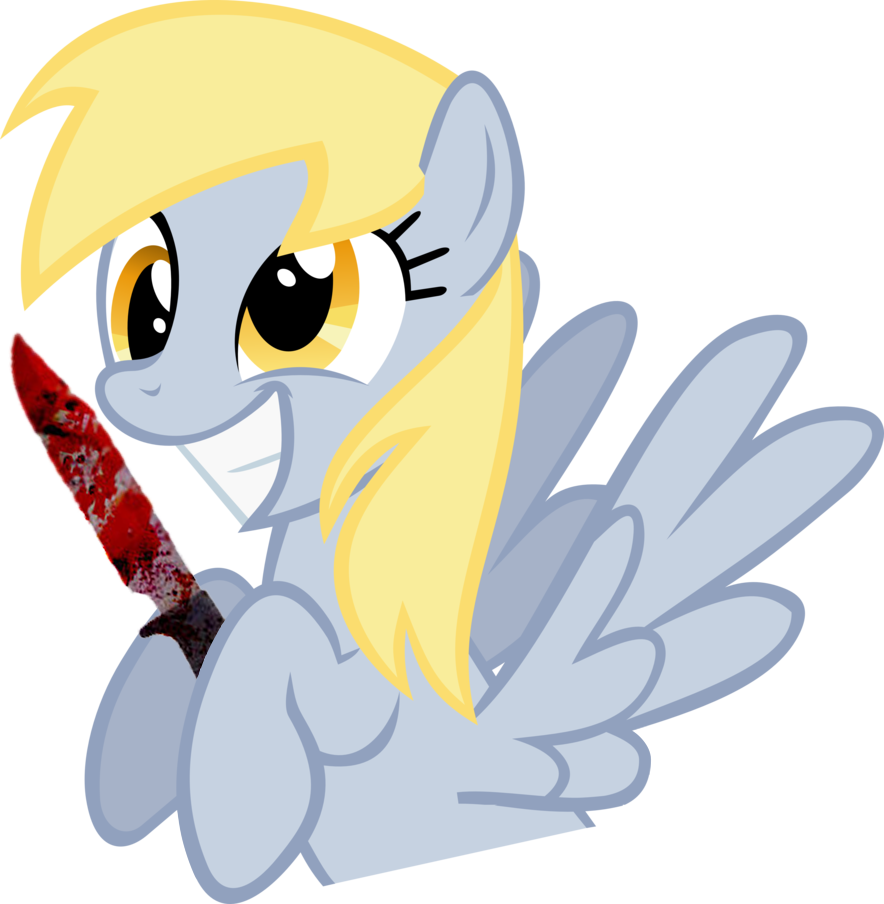 Mystery clipart knife.  bloody derpy hooves