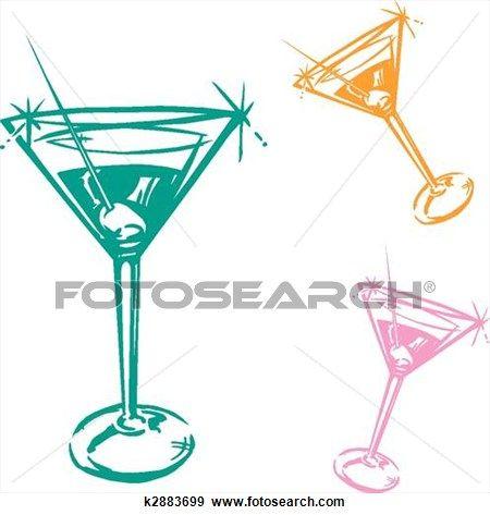 Cocktail illustration clip art. Martini clipart bar glass