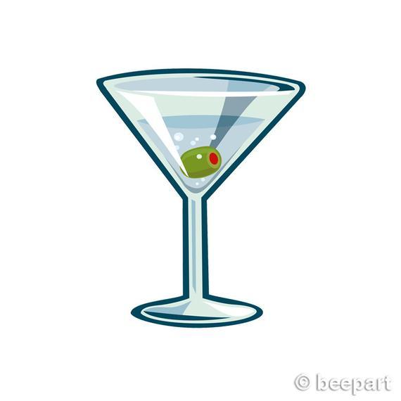 Martini clipart bar glass. Clip art cocktail illustration