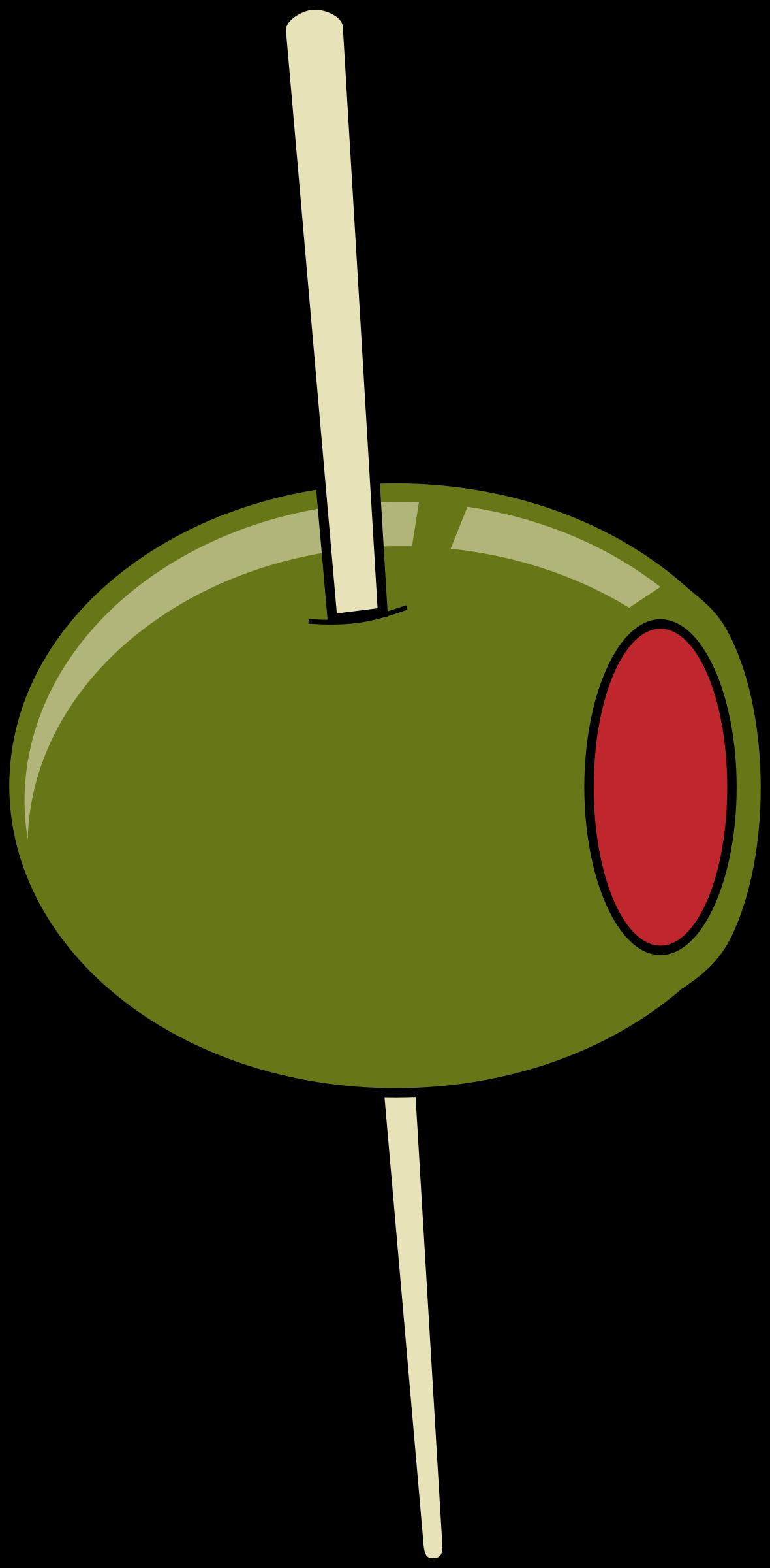 Olive martini olive