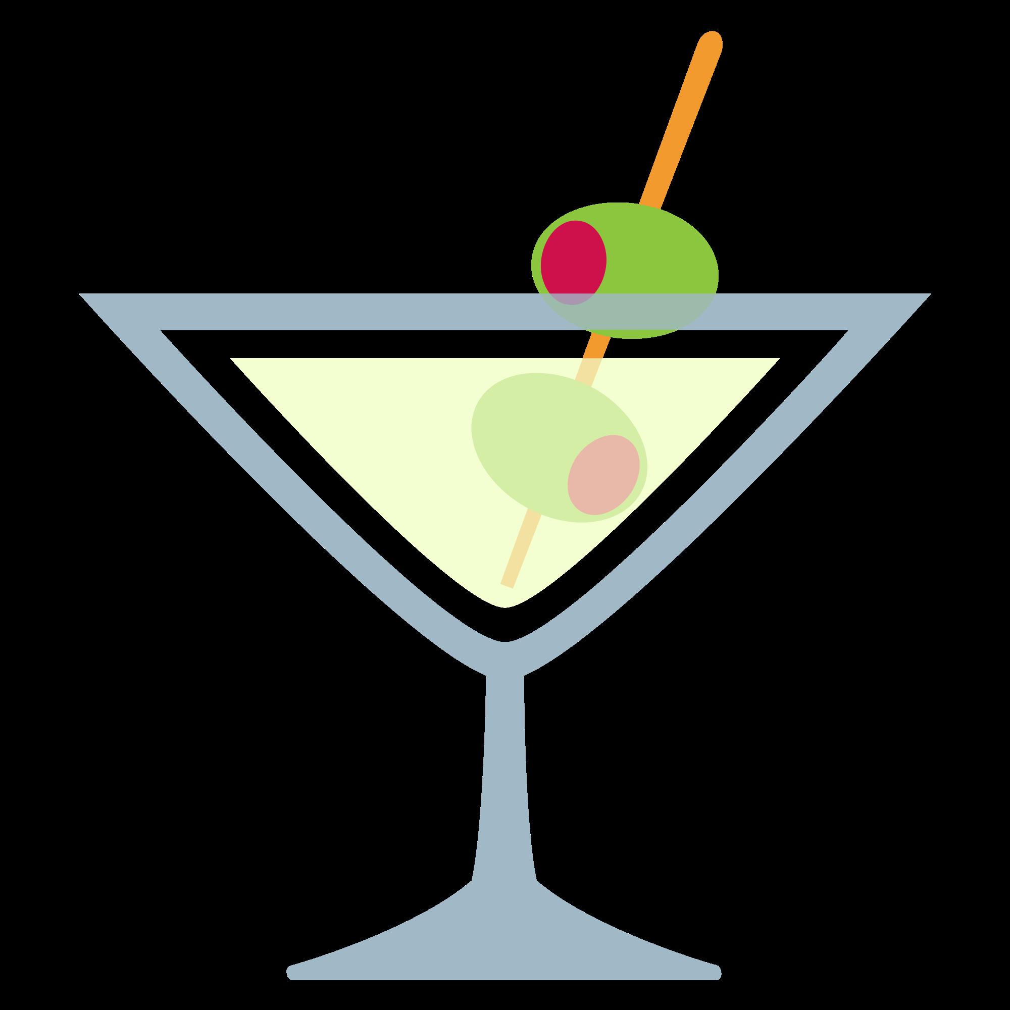 Martini Svg Outline White - Martini Glass Clipart (#3897792) - PikPng