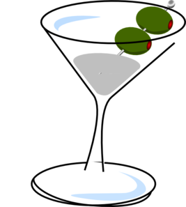 Clip art free panda. Martini clipart