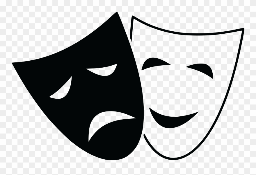 Drama clipart clip art. Free of theater masks