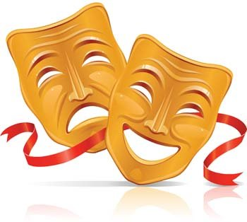 Free drama and vector. Mask clipart