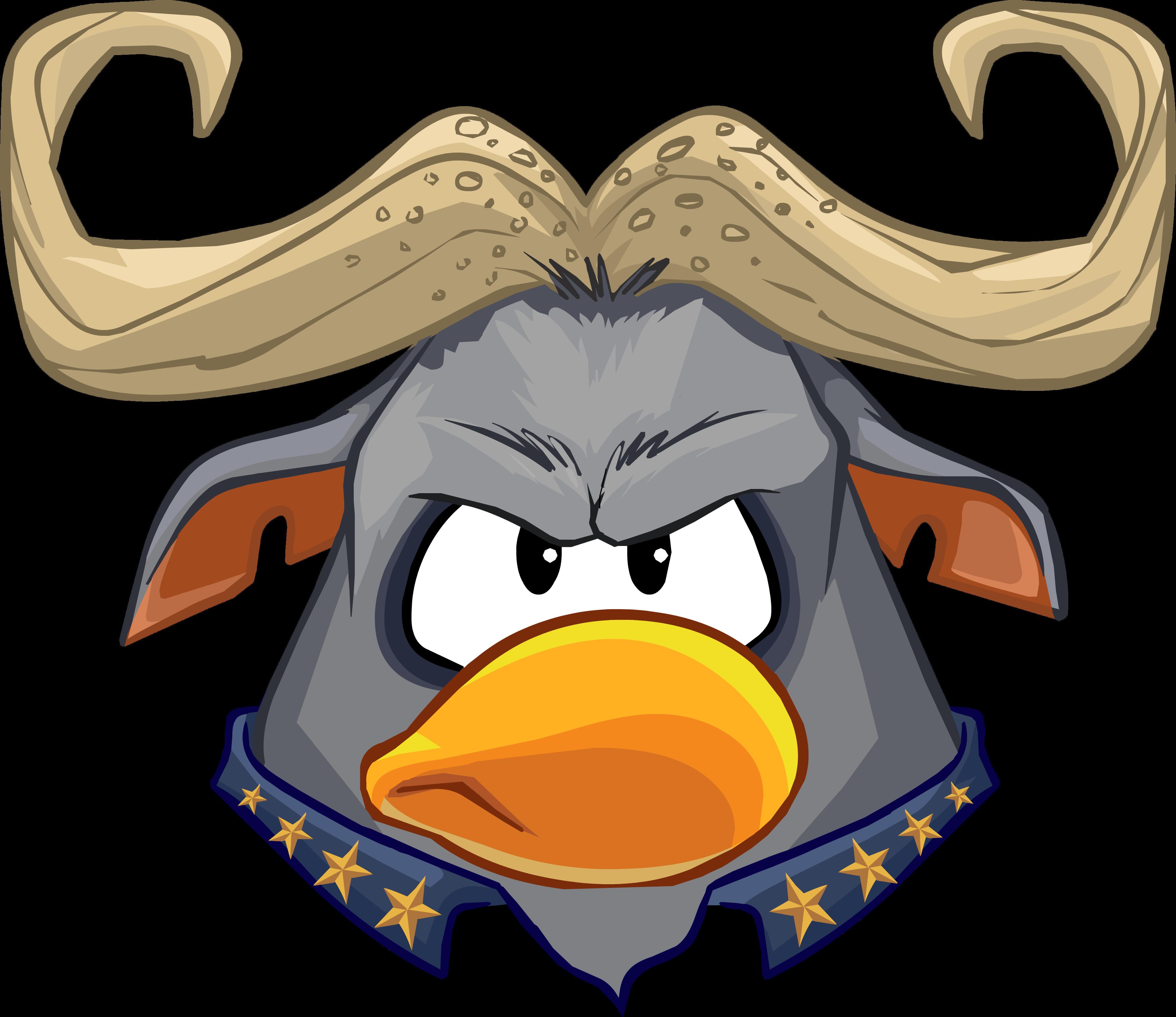 Mask clipart animal. Chief bogo club penguin