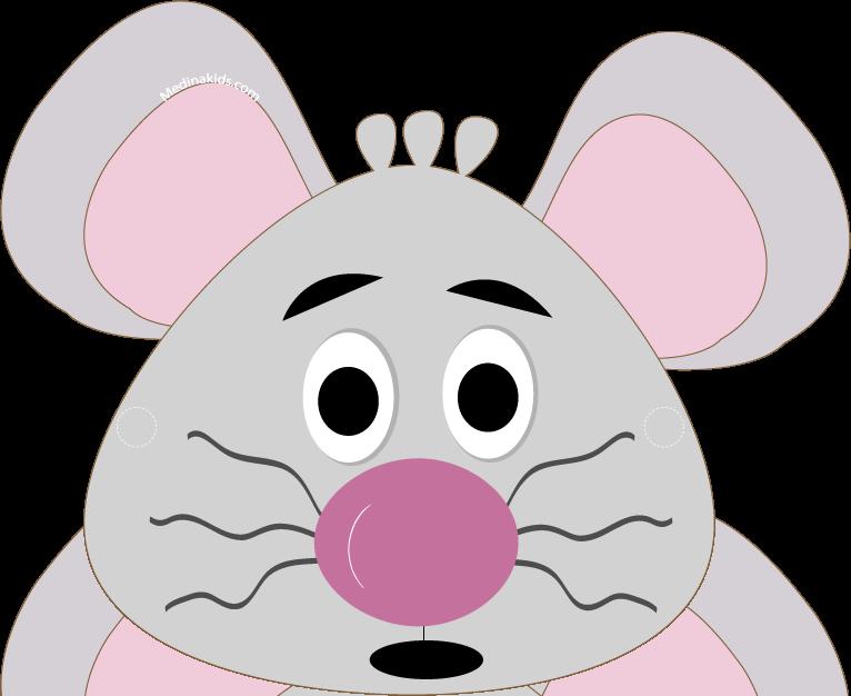 Mouse printable medinakids craft. Mask clipart animal