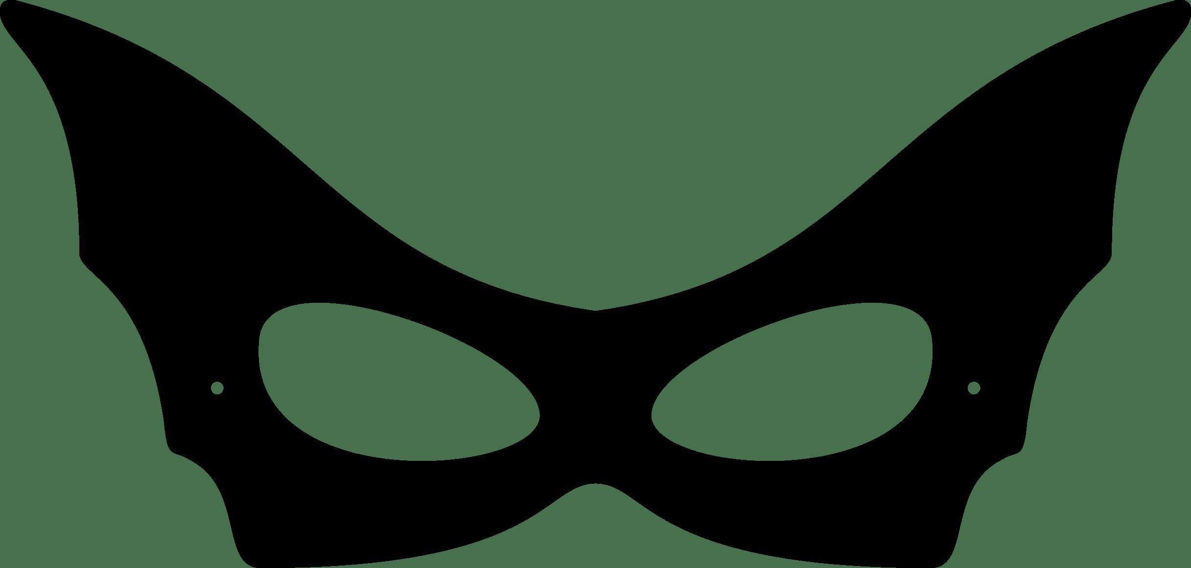 Mask clipart cat woman. Catwoman template costumepartyrun black