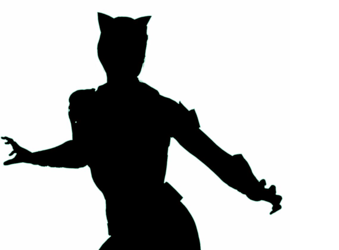 Mask clipart cat woman. Catwoman silhouette at getdrawings