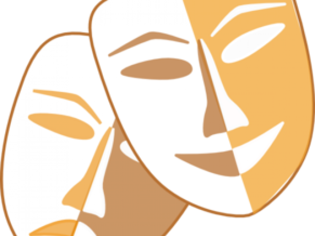 Theatre clipart physical theatre. Drama masks free download