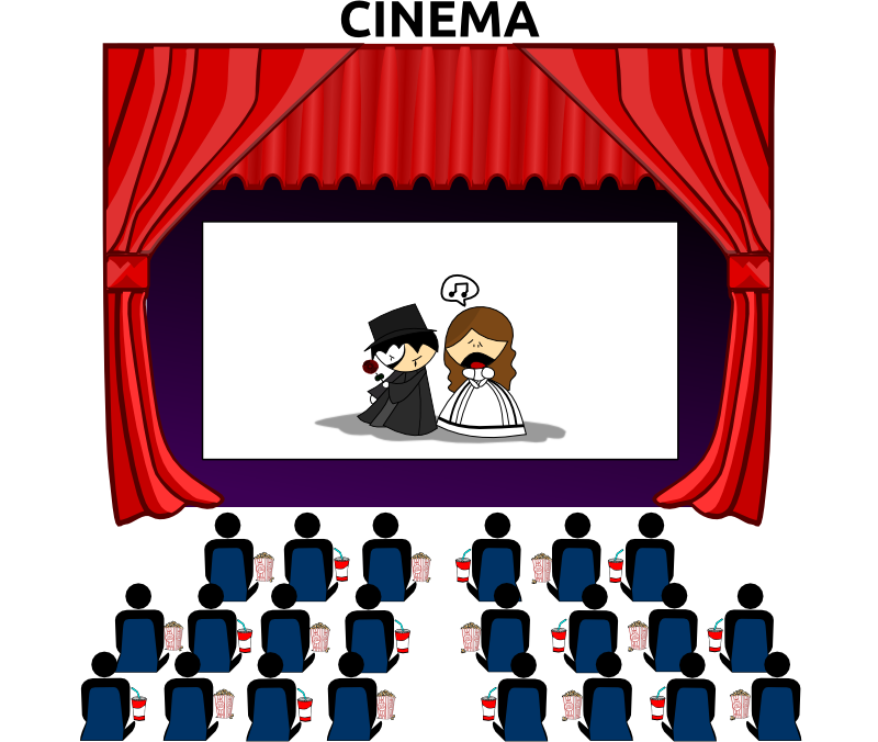 Movie clipart animated. Masks theatre x clip