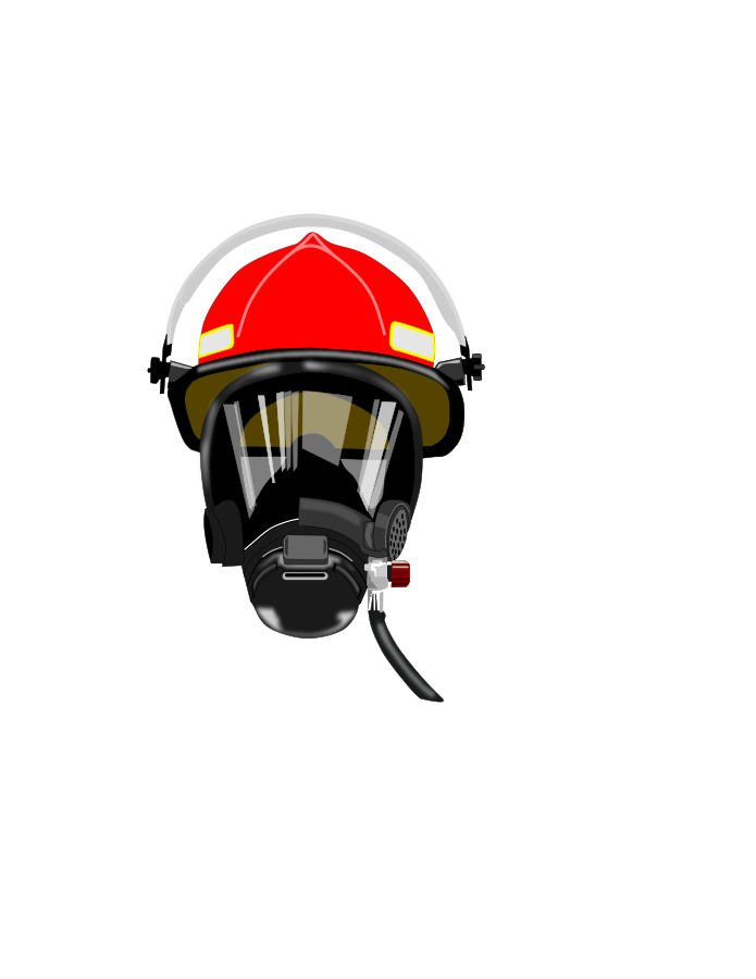 Mask clipart fire fighter. Firefighter s helmet firefighting
