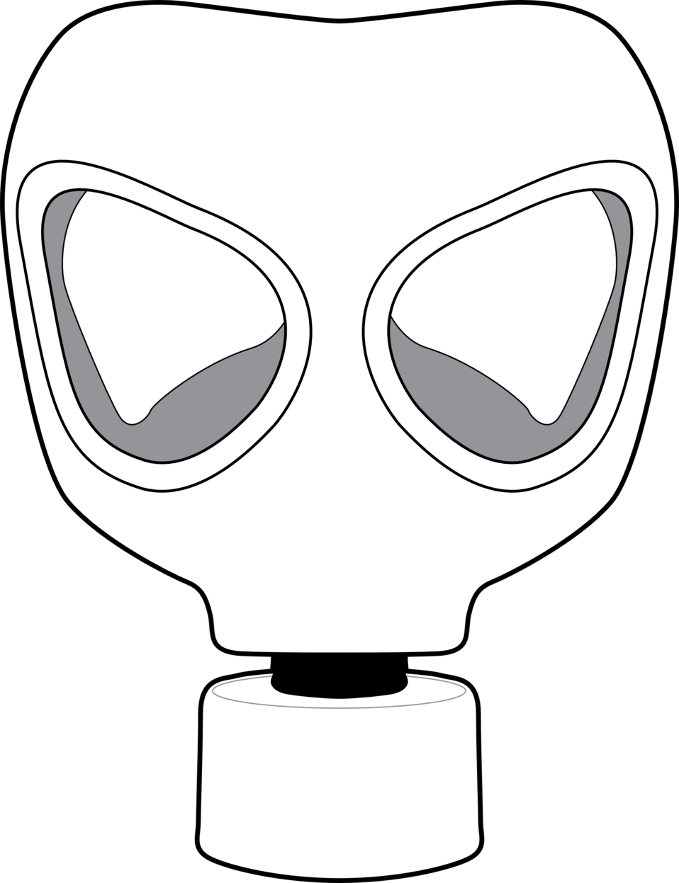 Mask clipart gas mask. Public domain clip art