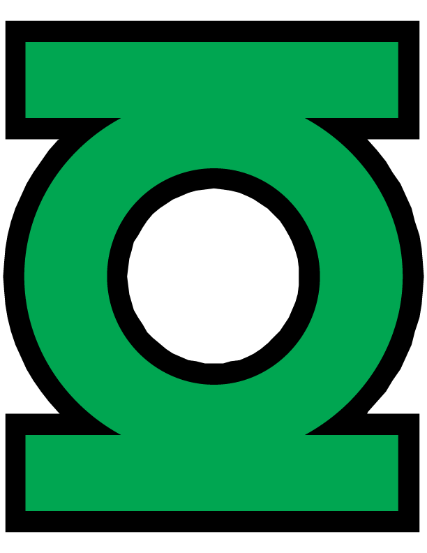 Logo png super heros. Mask clipart green lantern