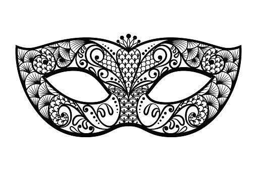 Mask clipart masked. Mardi gras black and