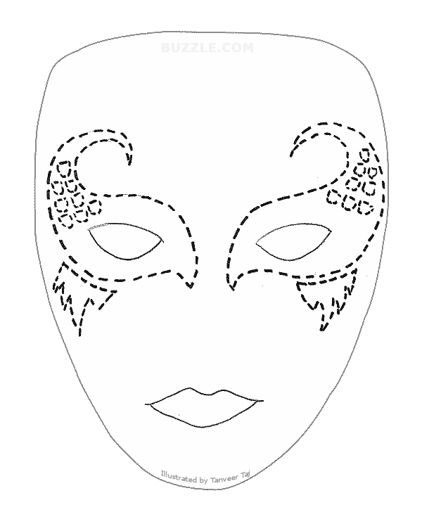 Create your own halloween. Mask clipart mime