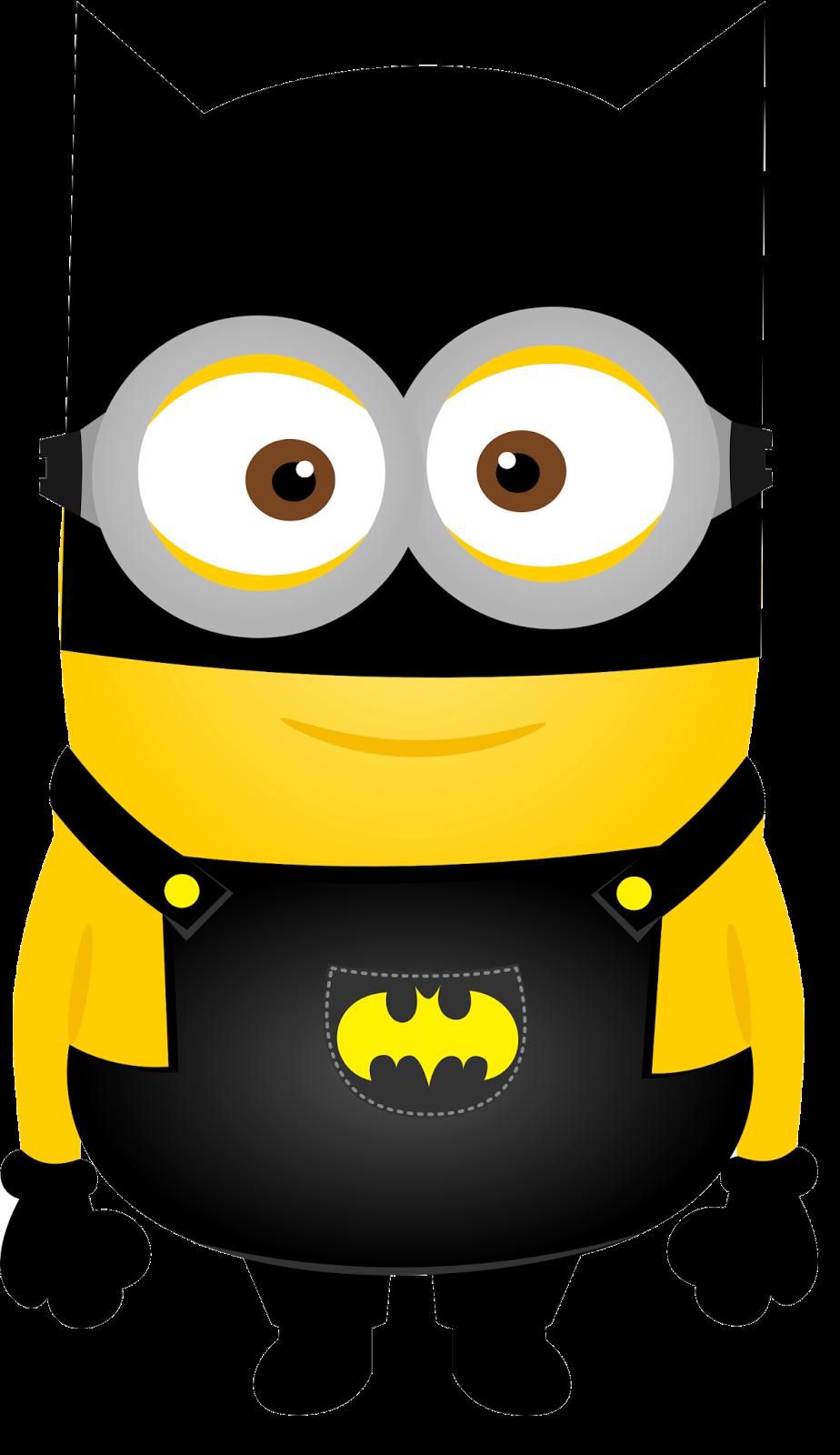 Minion clipart black and white. Minions superheroes clip art