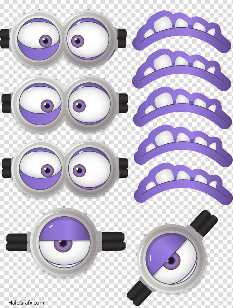 Minions clipart mask. Purple eyes and lips