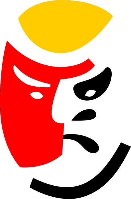 Noh of japanese theater. Mask clipart musical theatre