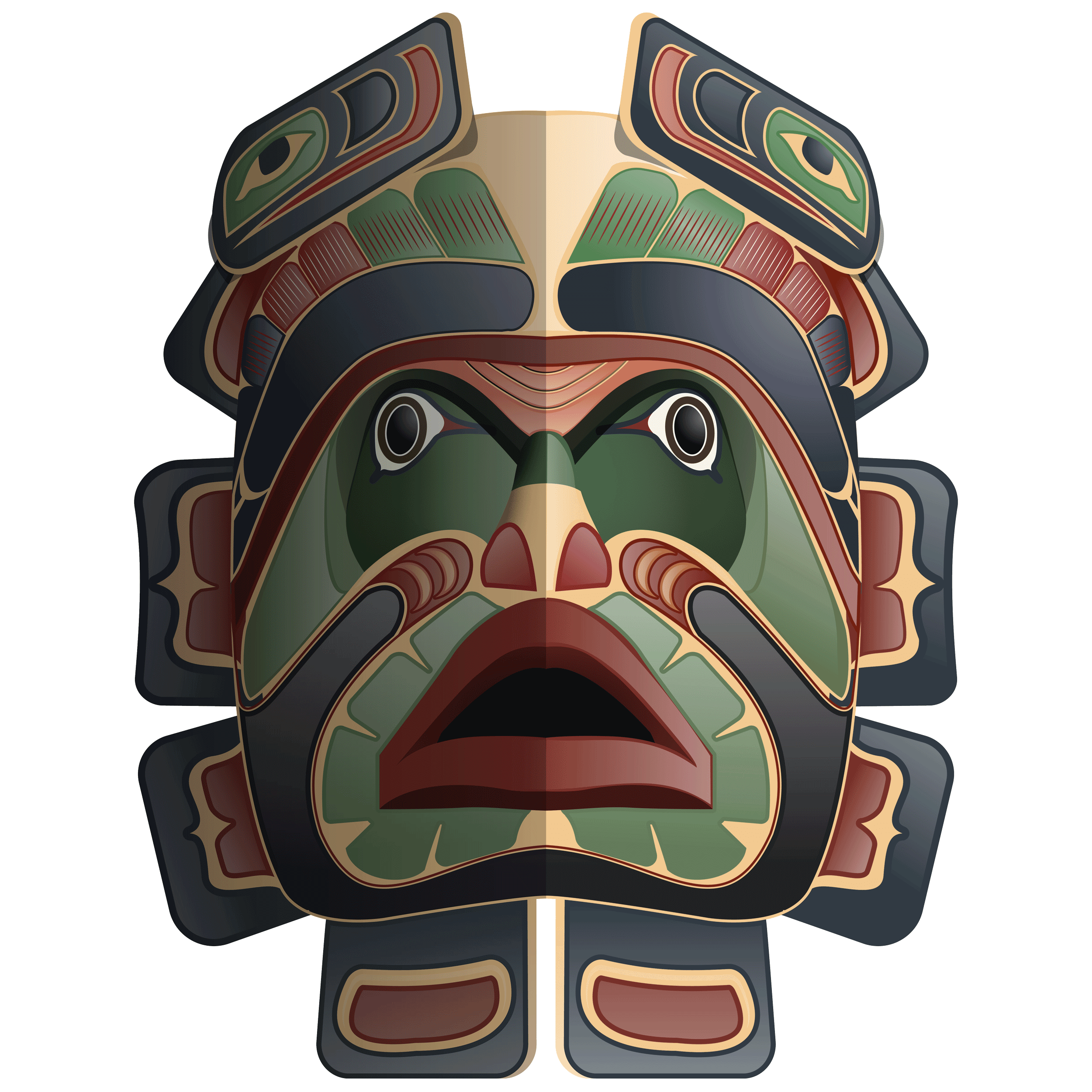 Masks clip art best. Mask clipart native american
